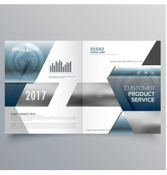 Business bifold brochure creative design template vector