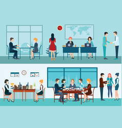 Business meeting conceptual vector