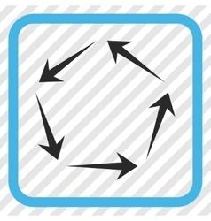Circulation icon in a frame vector