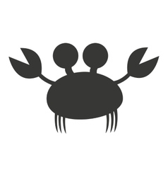 crab animal cute marine vector image
