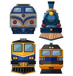 Different types of trains vector
