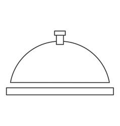 Dish tray icon vector