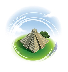 El castillo pyramid chichen itza vector