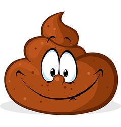 Funny poo cartoon - vector