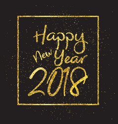 Glittery happy new year background vector