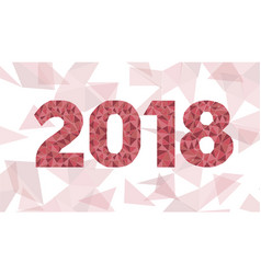 happy new year 2018 low poly vector image vector image