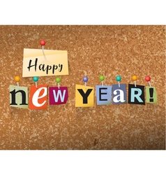Happy New Year Concept vector image vector image