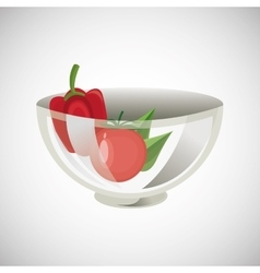 Healthy food design organic food natural product vector image
