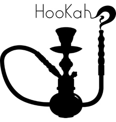 Hookah isolated on white background vector image