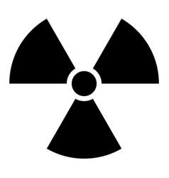 ionising radiation sign attention danger symbol vector image