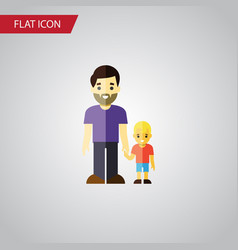 Isolated father flat icon son element can vector