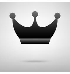 King crowne black icon vector