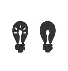 Lightbulb Icon logo on white background vector image