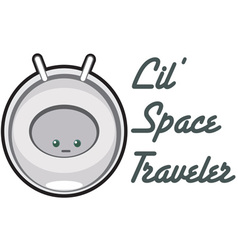 Lil space traveler vector