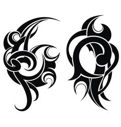 Maori styled tattoo pattern vector