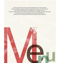 Menu Design print background vector image vector image