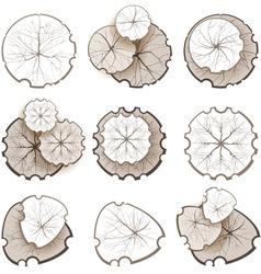 monochrome trees vector image vector image