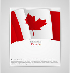 National flag brochure of canada vector