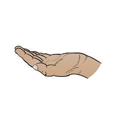 Open black hand vector
