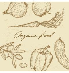 Organic food set vector