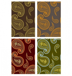 paisley backgrounds vector image