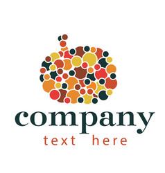 pumpkin abstract logo vector image