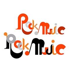 Rock music vector