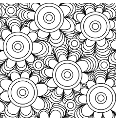 seamless floral background of drawn lines vector image