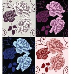 Seamless pattern beautiful decorative roses vector image vector image