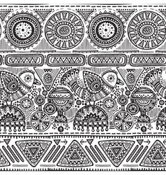 seamless pattern with black and white hand vector image vector image