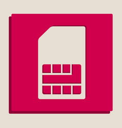 Sim card sign grayscale version of popart vector