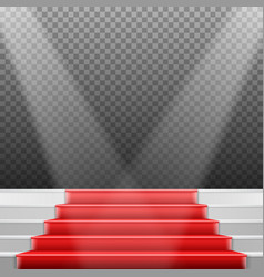 Stairs template 3d realistic winner stage stairs vector