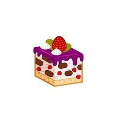 Strawberry and chocolate yogurt cake vector image