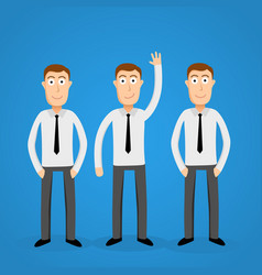 volunteer business man leader one of the crowd vector image vector image