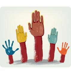 Voting hands vector image