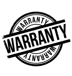 Warranty stamp rubber grunge vector