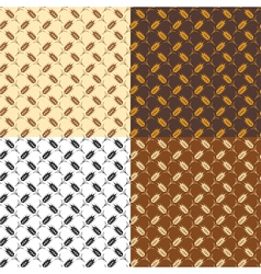 wheat patterns vector image vector image