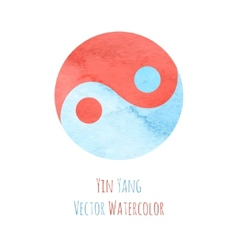 Yin yang watercolor vector
