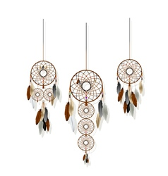 Dreamcatchers set vector image