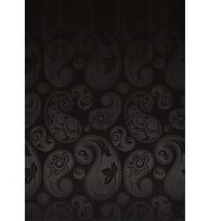 Paisley Flower Pattern Seamless vector image