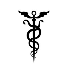 Caduceus mercurys staff vector