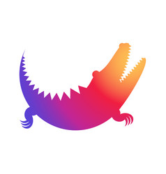 crocodile rainbow icon made of circles vector image