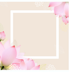 Postcard with pastel flowers vector