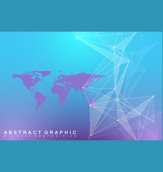 Geometric graphic background communication big vector