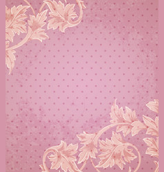 pink retro background vector image