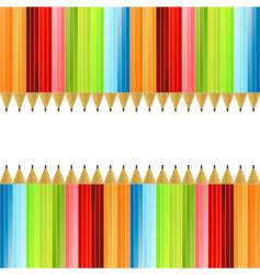 Pencils colorful background vector