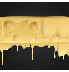 Yellow cheese background vector