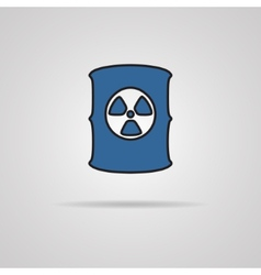 Radioactive waste barrel vector