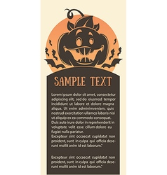 Pumpkin card vector