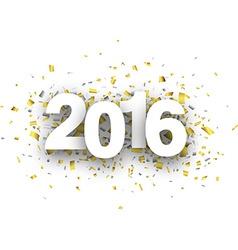 2016 paper confetti sign vector image